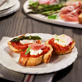 Party Tomato Toasts